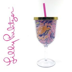 Lily Pulitzer Wine Tumbler